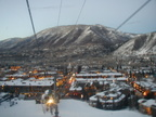 The town of Aspen as seen from the gondolas