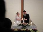 Rather blurry, but William and Abbie lighting the unity candle.